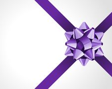 Free Gift Violet Bow Royalty Free Stock Images - 17476459