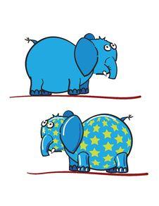 Free Blue Elephants Royalty Free Stock Photography - 17476487