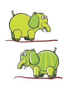 Free Green Elephants Stock Images - 17476494