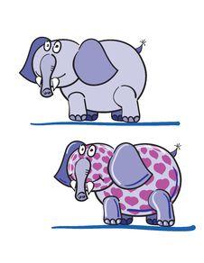 Elephants And Hearts Royalty Free Stock Photos