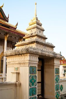 Free Main Entrance Of Thai Church Stock Image - 17476601