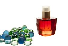 Free Red Parfume Bottle On White Background Stock Photo - 17476630