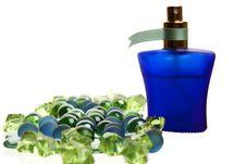 Free Blue Parfume Bottle Stock Image - 17476631