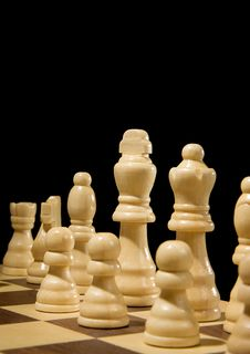 Free Chess Piece On Board Isolated On Black Stock Photos - 17476703