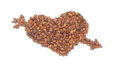 Free Heart Broken Through An Arrow From Coffee Royalty Free Stock Photos - 17476888