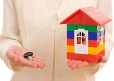 House On The Hands. Stock Image