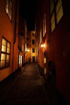 Free Night Street From Fairy Tail Royalty Free Stock Photos - 17477448