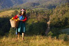 Lisu Hill Tribe Woman In Costume Royalty Free Stock Photos