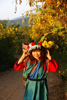 Lisu Hill Tribe Woman In Costume Royalty Free Stock Images