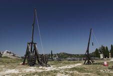 Trebuchets In Les Baux De Provence Stock Photo