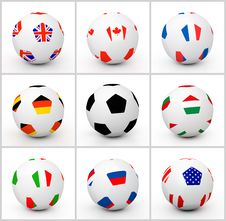 Free Set Soccer Ball Royalty Free Stock Image - 17478666