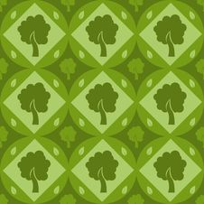 Free Cute Tree Pattern Stock Photography - 17478862