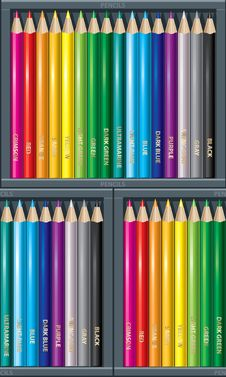 Free Pencil_pattern_2 Stock Photography - 17479042