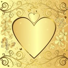 Valentine Elegant Golden Background