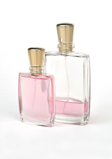 Two Size Of Perfume Bottle Stock Photography