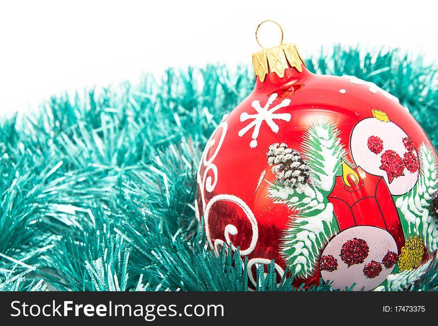 Christmas-tree glass decorations