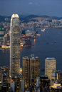 Free Night Scene Of Skyscrapers At Victoria Harbour Royalty Free Stock Photos - 17480568