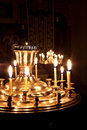 Free Candles And A Lamp Burning In The Church. Stock Photo - 17481900