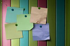 Multicolored Notes Stock Photos