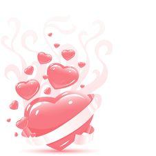 3d Hearts Stock Photos