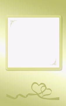 Golden Heart Card Stock Photography