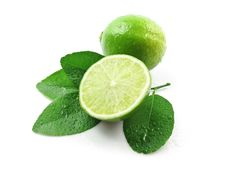 Free Green Lemons With Leaves Stock Photos - 17482583