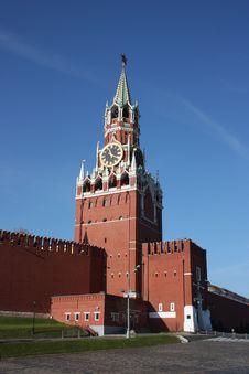 Free Moscow. Kremlin. Spasskaya Tower. Stock Images - 17482594