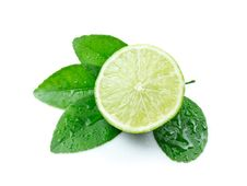 Free Green Lemons With Leaves Stock Image - 17482601