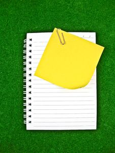 Yellow Note And Notebook Paper Stock Photography