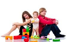 Free Family Playing With Toys Royalty Free Stock Photography - 17483237