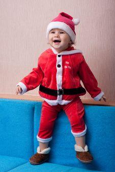 Free The Cheerful Kid Santa Claus Stock Photos - 17483573