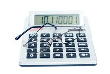 Free The Calculator And Spectacles Stock Image - 17483781