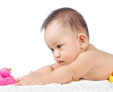 Curious Baby Stock Photos