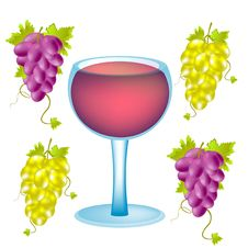 Free Grape And Goblet Blame Stock Image - 17487071