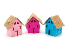 Free Three Color Small Houses Stock Image - 17487601