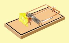 Free Mouse Trap With Cheese Stock Images - 17487914