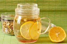 Free Green Tea From Herb Stock Photography - 17488622