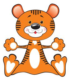 Free Toy Tiger Royalty Free Stock Photo - 17488895