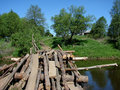 Free An Old Wooden Bridge Stock Photography - 17490932