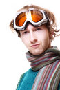 Free Snowboarder Portrait Isolated Over White Royalty Free Stock Image - 17491986