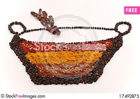 Free Spice Bowl Royalty Free Stock Photo - 17492875