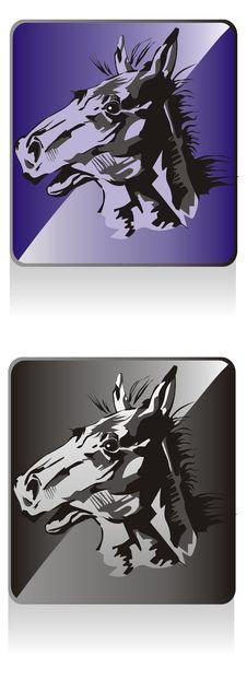 Free Icon Horse Royalty Free Stock Image - 17490476