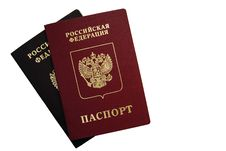 The Russian Passport Royalty Free Stock Photography