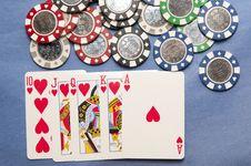 Free Poker Royal Flush Royalty Free Stock Photo - 17491035