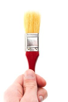 Free Hand Hold Brush. Painter Stock Photos - 17491703