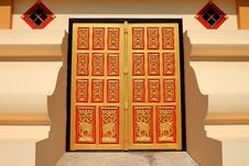 Free Door Of Wat Lao Stock Photos - 17491793