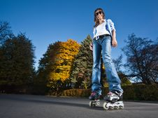 Free Rollerblading Girl Stock Photos - 17492023