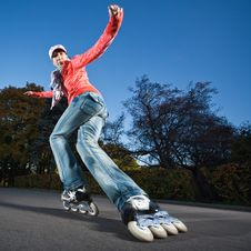 Free Fast Rollerblading Royalty Free Stock Photo - 17492035
