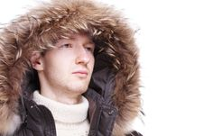 Free Young Man Wearing Winter Jacket Stock Photos - 17492133