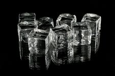 Free Glass Cubes On Black Stock Photography - 17492192